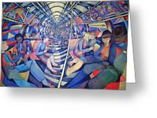 Subway Nyc, 1994 Oil On Canvas Greeting Card