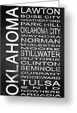 Subway Oklahoma State 1 Greeting Card