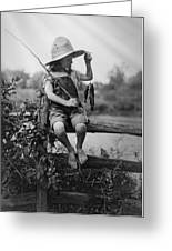 Successful Day Of Fishing  1919 Greeting Card by Daniel Hagerman