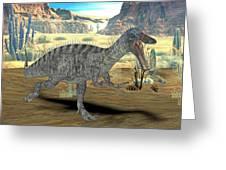 Suchomimus Dinosaur Greeting Card