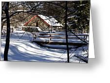 Sudbury - Grist Mill In The Woods Greeting Card