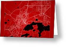 Sudbury Street Map - Sudbury Canada Road Map Art On Color Greeting Card