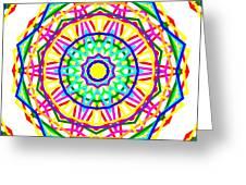 Sudoku Connections White Kaleidoscope Greeting Card