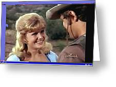 Sue Green Mark Slade The High Chaparral 1966 Pilot Screen Capture Collage 1966-2012 Greeting Card