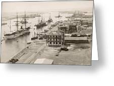 Suez Canal Port Said Greeting Card