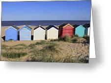Suffolk Beach Huts Greeting Card