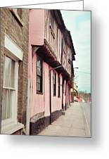 Suffolk Town Houses Greeting Card