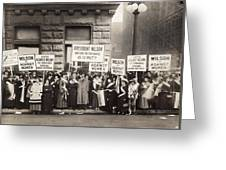 Suffrage Protest, 1916 Greeting Card