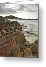 Sugar Bay Rocks Greeting Card