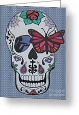 Sugar Candy Skull Bubbles Greeting Card