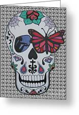 Sugar Candy Skull Pattern Greeting Card