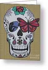 Sugar Candy Skull Sand Greeting Card