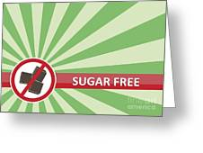 Sugar Free Banner Greeting Card