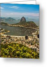 Sugar Loaf Mountain In Rio De Janeiro Greeting Card