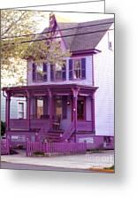 Sugar Plum Purple Victorian Home Greeting Card