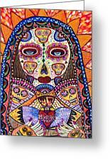 Sugar Skull Angel Heart' Greeting Card