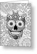 Sugar Skull Bleached Bones - Copyrighted Greeting Card by Christopher Beikmann