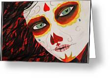 Sugar Skull Greeting Card by Kip Krause