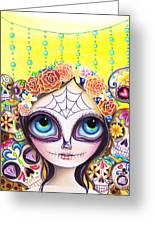Sugar Skull Princess Greeting Card