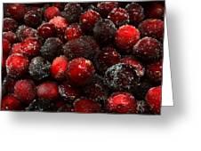 Sugared Cranberries Greeting Card