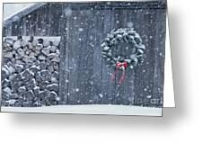 Sugarhouse At Christmas Greeting Card
