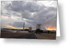 Sugarmill At Sunset Greeting Card