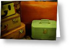 Suitcases In The Attic Greeting Card