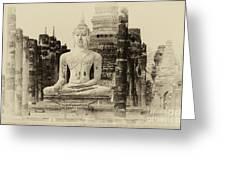 Buddha Sukhothai Thailand 1 Greeting Card