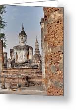 Sukhothai Historical Park - Sukhothai Thailand - 011332 Greeting Card