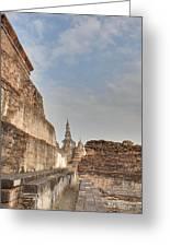 Sukhothai Historical Park - Sukhothai Thailand - 01138 Greeting Card
