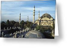 Suleymanhe Mosque, The Bizaar Quarter Greeting Card