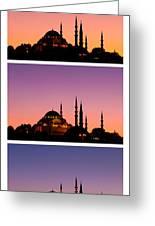 Suleymaniye Sundown Triptych 03 Greeting Card