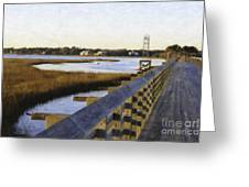 Sullivan's Island To Old Village Greeting Card