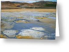 Sulphur And Volcanic Earth Greeting Card