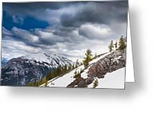 Sulphur Mountain Up High Greeting Card