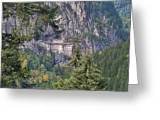 Sumela Monastery In Black Sea Region Of Turkey Greeting Card
