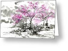 Sumie No.2 Plum Blossoms Greeting Card