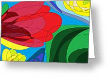 Summer Abstract Greeting Card