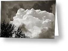 Summer Afternoon Cloudscape Greeting Card