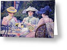 Summer Afternoon Tea In The Garden-1901 Greeting Card