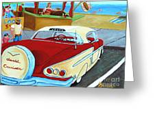 Cruising The Beach Greeting Card