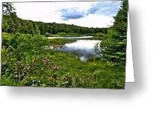 Summer At The Green Bridge Greeting Card