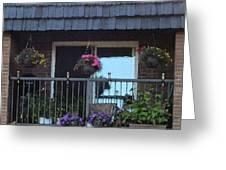 Summer Balcony Greeting Card