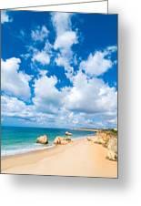 Summer Beach Algarve Portugal Greeting Card