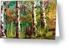 Summer Birch Greeting Card