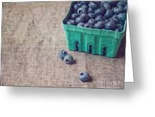Summer Blueberries Greeting Card