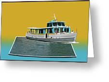 Summer Boat Ride 02 Walt Disney World Greeting Card