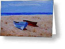Summer Boats Greeting Card