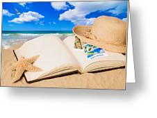 Summer Book Greeting Card