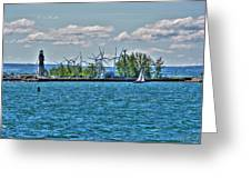 Summer Breeze From Lasalle Park Greeting Card
